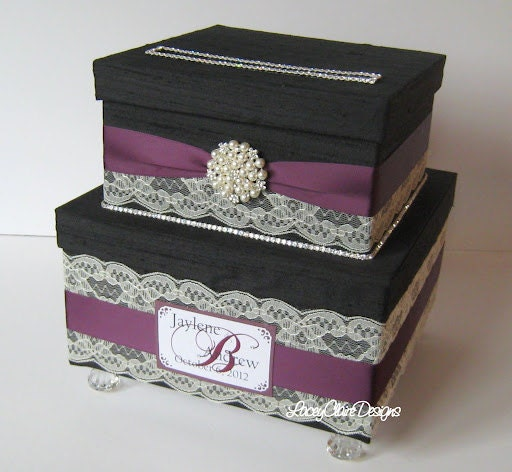 Wedding Card Box Envelope Card Holder By LaceyClaireDesigns