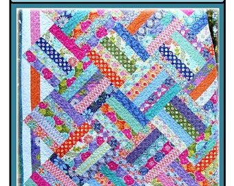 PDF Quilt Pattern Supernova Carlene Westberg Designs Jelly Strip Quilt