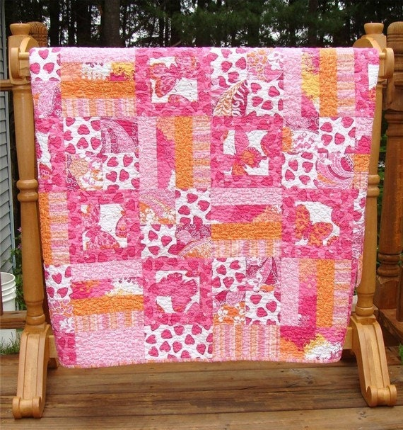 PDF Quilt Pattern Toddle Time Toddler Bed Quilt Carlene