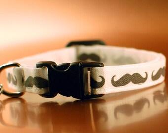 Mustache Cat Collar