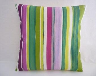 "BIG Pink Purple Pillow Cushion Cover Stripe Pillows Funky Retro Designer Pillowcases Pillow Shams Slips Scatter ONE 22"" (56cm)"