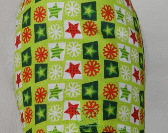 Christmas Holiday Green & Red Plaid with Stars and Snowflakes Harness. Custom made for your Cat, Dog or Ferret.