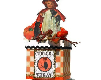 Decorative Halloween Box Candy Trinket Keepsake Gift Box Halloween Decor