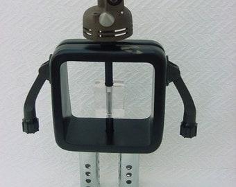 Robot Assemblage- Cyclops- Junk Art- Found Object Robot