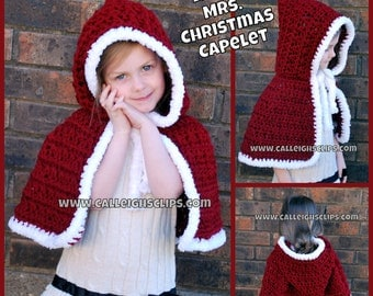 LIttle Mrs. Christmas Capelet 1-5 years