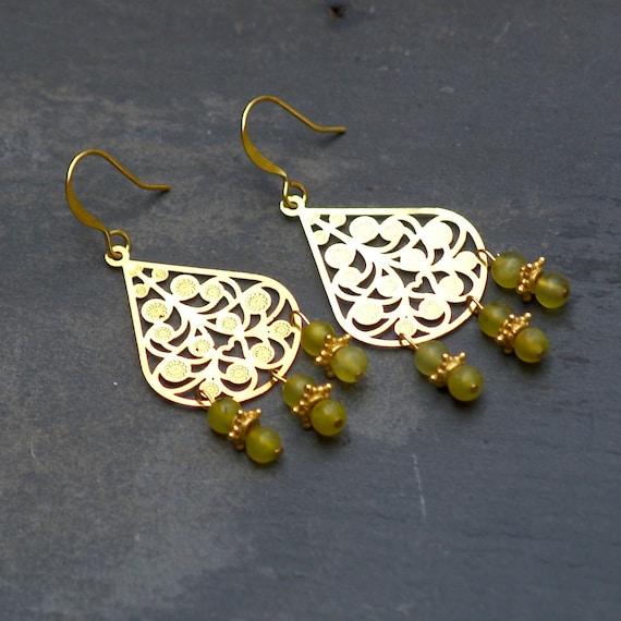 Golden Pear Earrings