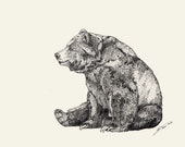 BEAR // Signed A3 print