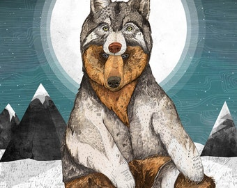 Wear Wolf // Signed A4 print