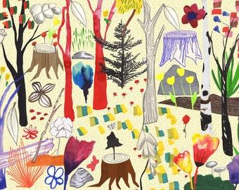 Magic Wood // A3 print
