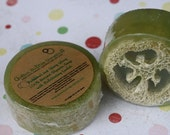 Natural Soap, Loofah Soap, Patchouli & Ylang Ylang, 4.5 oz., FREE SHIPPING by green bubble gorgeous on etsy