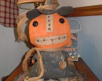 Primitive Pumpkin Witch