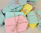 20 Small Pink Pastel Gift Tags, Hang Tag, Blank Price Tag, Pink Tags