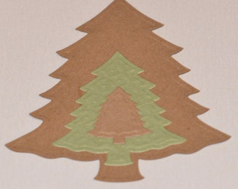 Christmas Tree Die Cuts Spellbinders Shapeabilities Nested Pine Trees - Set of Three