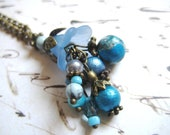 Forget Me Not Cluster Necklace in Bronze