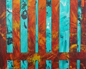 """Divisions:11 14 One - 11""""x14"""" acrylic painting by artist Troy Thomas"""