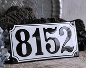 "Enamel House Number 4.3"" x 8.3"""