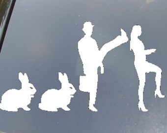 Family of Silly Walks Car Sticker