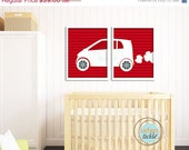 Nursery Art, Car Art Print Set For Children- Smart Car - Set of 2 - 11X14 Inches, other sizes,