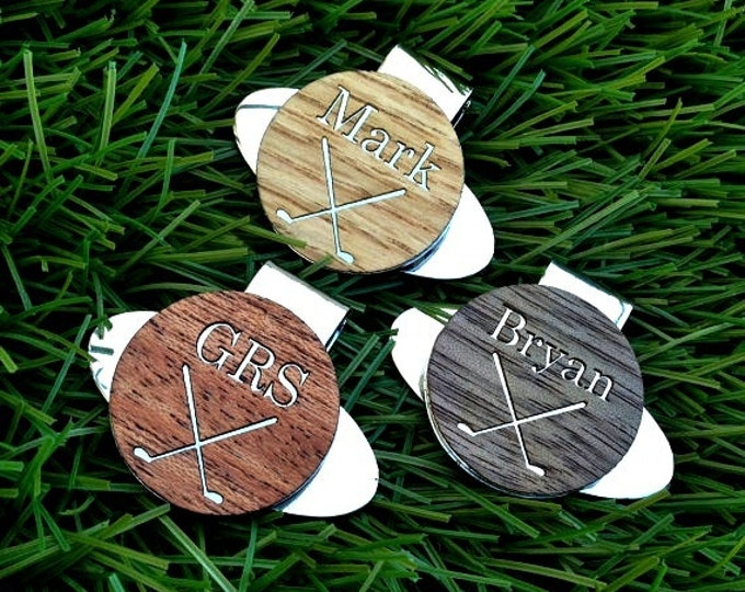 3 Personalized Golf Ball Marker / Hat Clip -Gifts for Groomsmen Gift, Best Man Gift, Father of the Bride Gift, Groomsmen Gifts, Father's Day