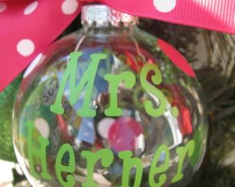 Teacher ornament | Etsy
