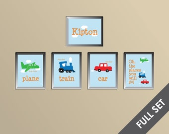Planes, Trains, and Cars Prints - Full Set