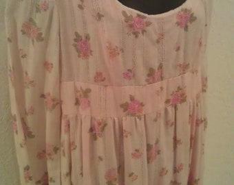 Vintage - 1960's cotton Floral maxi Dress - (available)