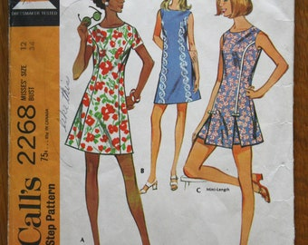 McCalls 2268 Misses Dress and Shorts Step-by-Step Vintage Sewing Pattern