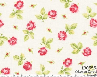 Hill Farm - White Scattered Roses by Brenda Riddle for Lecien Fabrics