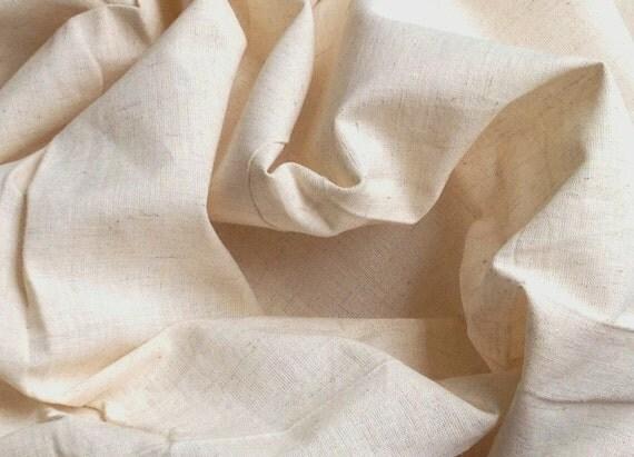 Dish Cloth fabric. Cotton Linen Unbleached - Vintage Kitchen Decor. Screen Print, Block Print,  Dye  Batiks, Sew, Play. 47 inches wide.