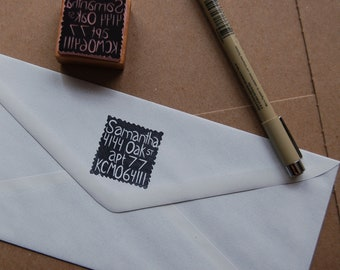 Custom Return Address Stamp - 1.5 inch Square