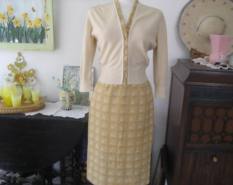 Nardis of Dallas Vintage Wool Skirt and Sweater Set