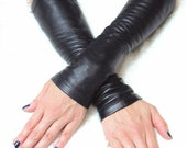 Rock Band Fingerless Leather Gloves - known as  -Kittys-