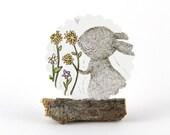 20 Stickers - Rabbit & Spring Flower