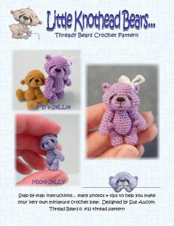 Tiny Amigurumi Bear Pattern : Thread Bears PDF crochet pattern AMiGuRuMi BeaR 11 by ...