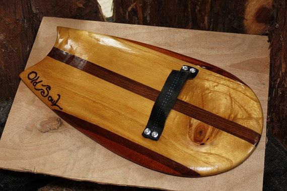 Body Surfing Hand Plane - Paulownia, Walnut and Sapele