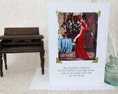 Funny Christmas Card Mistletoe In My Pocket a Sassy Saying