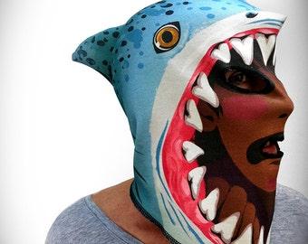 Shark Attack Monster Mask (100% Organic Cotton Knit)