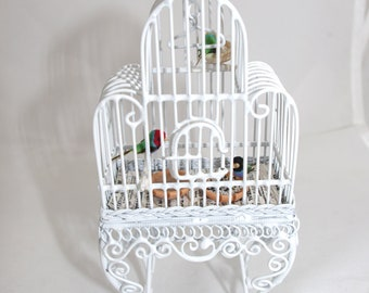 Miniature Life-like Finch Cage OOAK