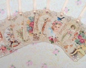 Precious Little Vintage Girls Gift Tags set of 8 No.463