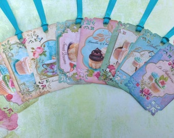 Cup Cakes & Cakes Gift Tags set of 8 No.452