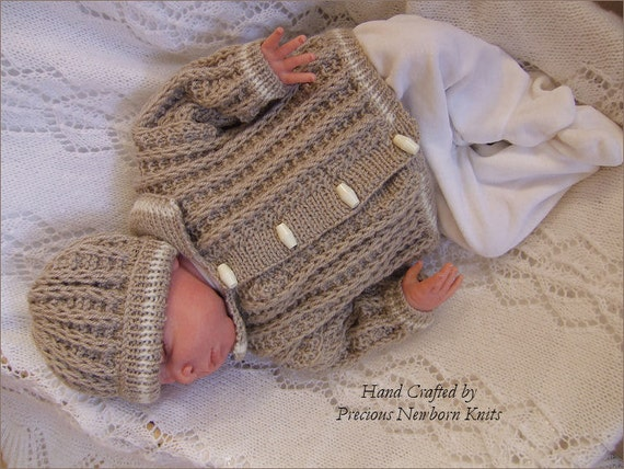 Baby Knitting Pattern Baby Boys or Reborn Dolls Download