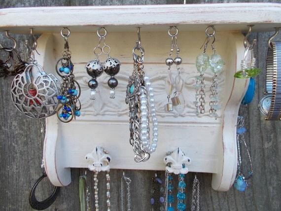 Jewelry Display, Wall Jewelry Hanger/ Shelf/ Jewelry Organizer/Wall Decor/ Home Furnishings