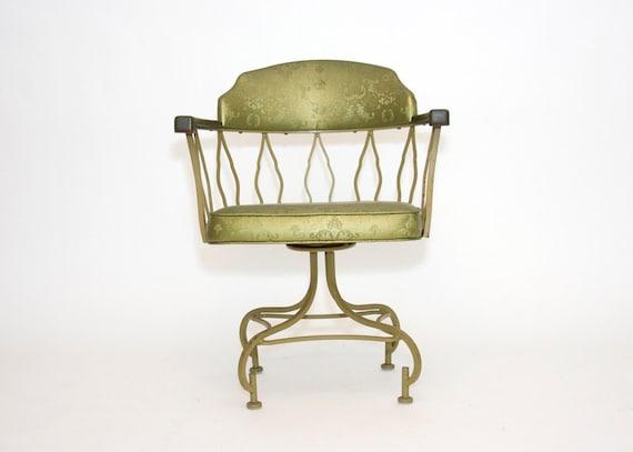 Reserved for Karen - Four Swivel Arm Chairs -Olive Green, Hollywood Regency, Vintage