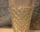 Large Cut Glass Pedestal Vase