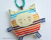 Leo the Cat, Baby Toy, Crinkle Toy, Baby Boy Gift, Stripes