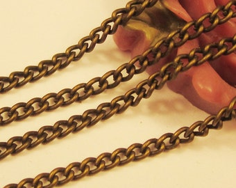 16ft 2x3mm Antique Bronze Twisted Chains