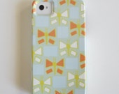IPhone 4/4s case Butterflies BLUE Geometric iphone case VIBE yellow orange insects bugs redtilestudio
