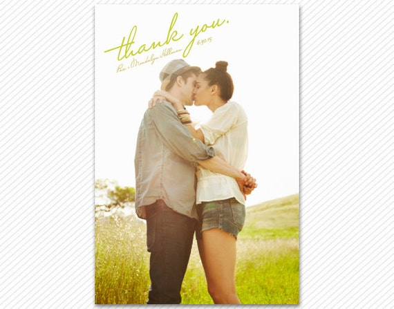 Wedding Thank You Card or Magnet - Scripted
