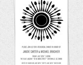 Rehearsal Dinner Invitations, Brunch, Lunch, Birthday, Party, Gala, Pick Your Colors, Printable DIY digital file