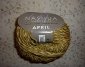 "Nashua April ""honey"" 100% Cotton Knitting Yarn Aran 11 skeins destash"